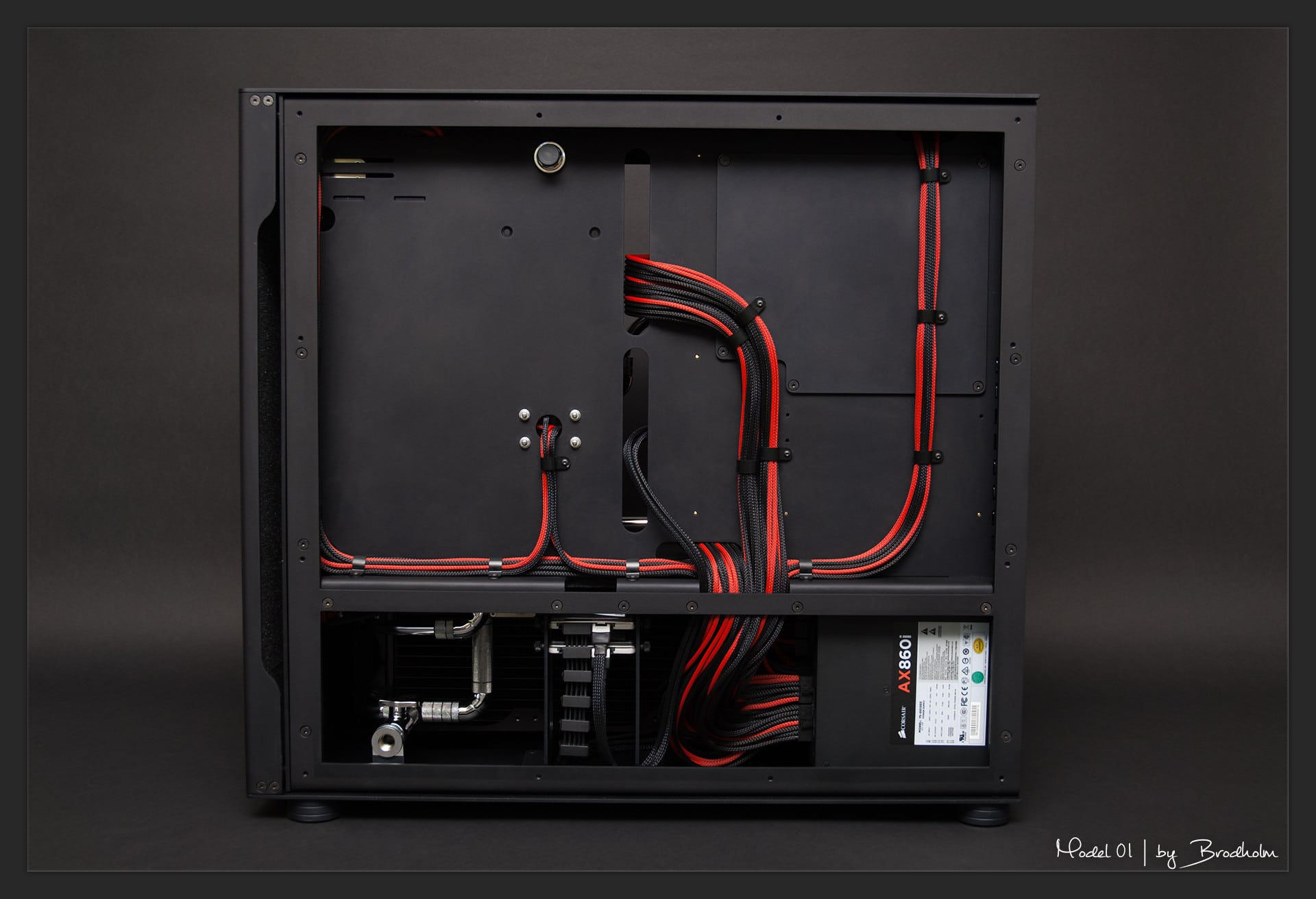 Achterkant kabelmanagement