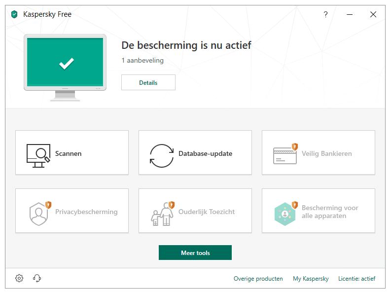 Gratis antivirus programma Kaspersky Free Antivirus