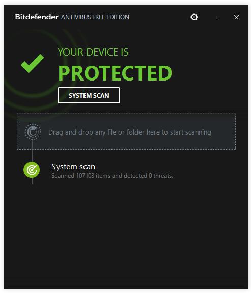 Gratis antivurus programma Bitdefender Free Antivirus
