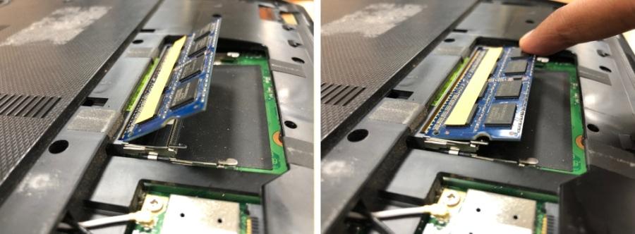 RAM geheugen weer installeren