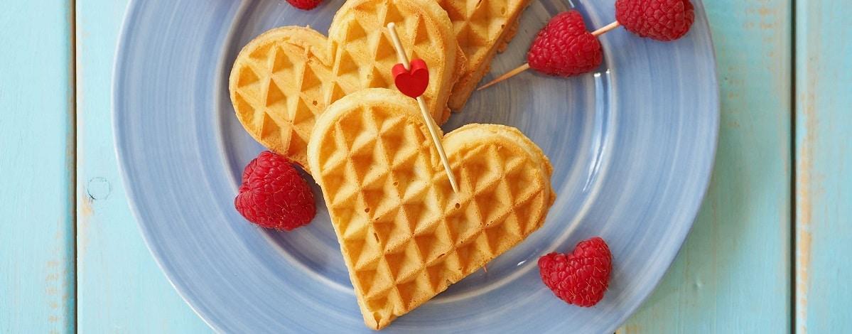 hartvormige wafels