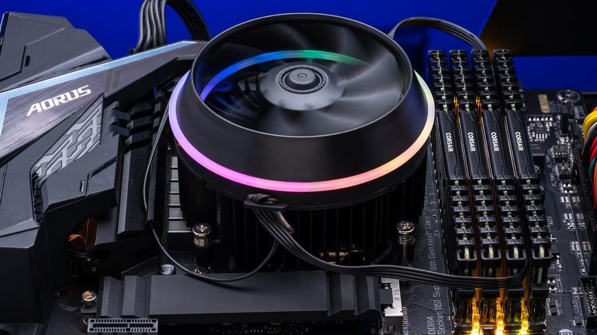 Een gaming PC met luchtkoeling