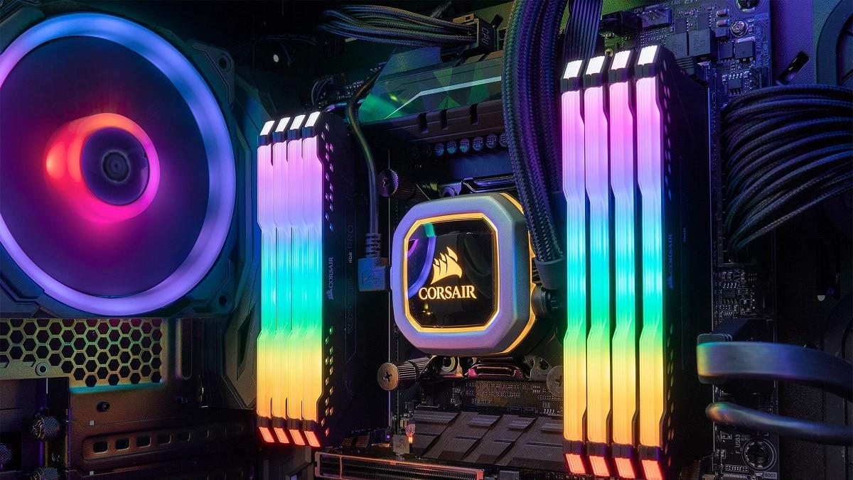 Een gaming PC met waterkoeling
