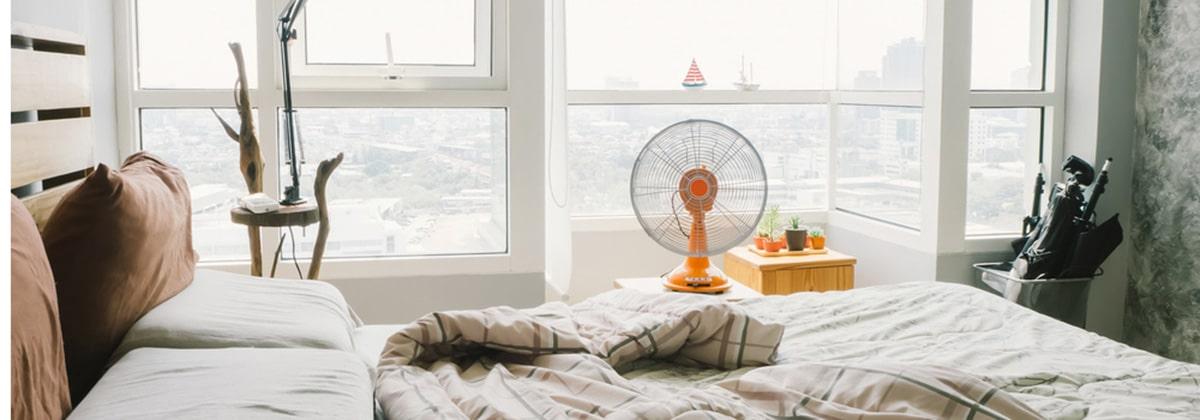 ventilator in slaapkamer