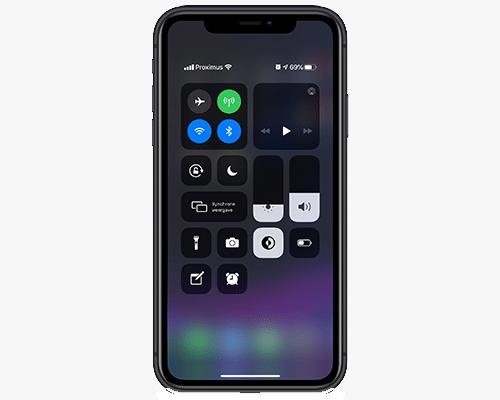 QR-code scannen via bedieningspaneel op iPhone 11