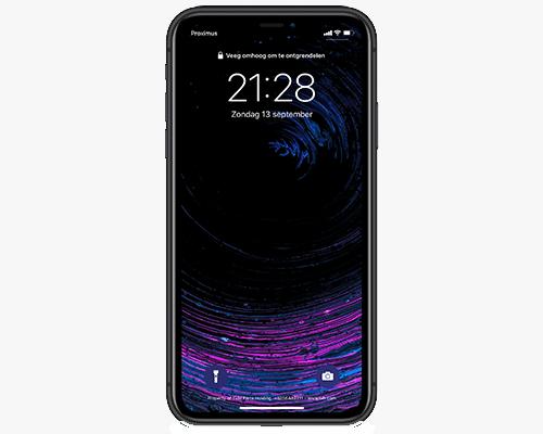 QR-code scannen via toegangsscherm op iPhone 11