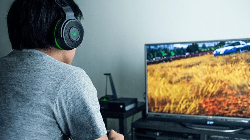 verwijderbare microfoon op gaming headset