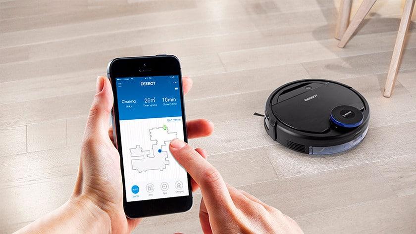 robotstofzuiger op afstand bestuurbaar