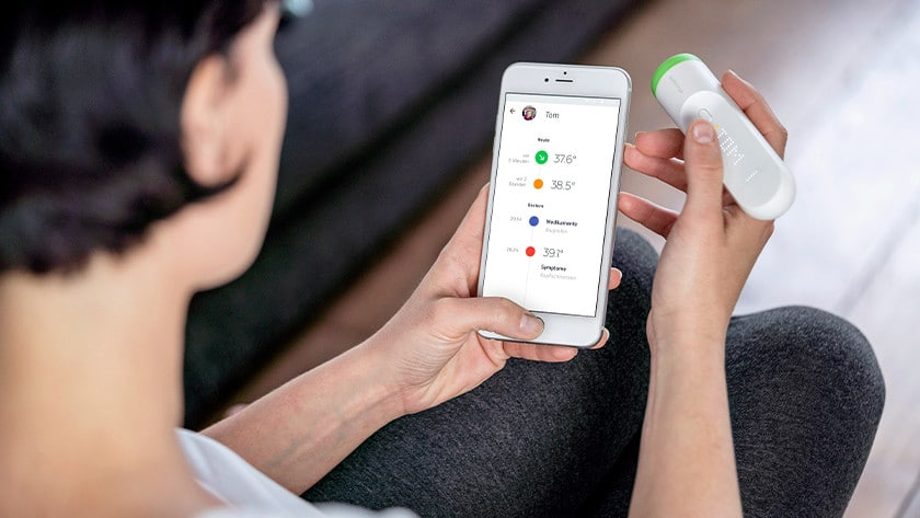 koortsthermometer met app