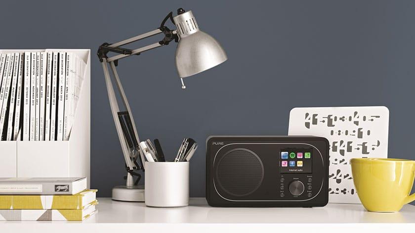 dab+ radio met hoofdtelefoon aansluiting
