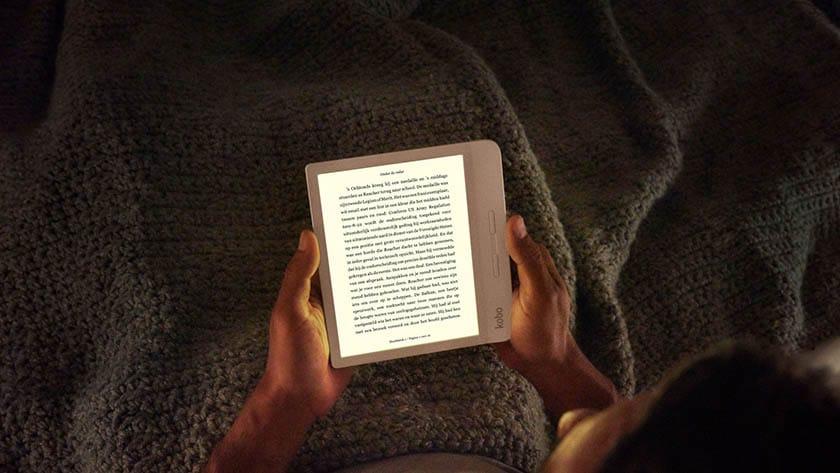 e-reader met achtergrondverlichting