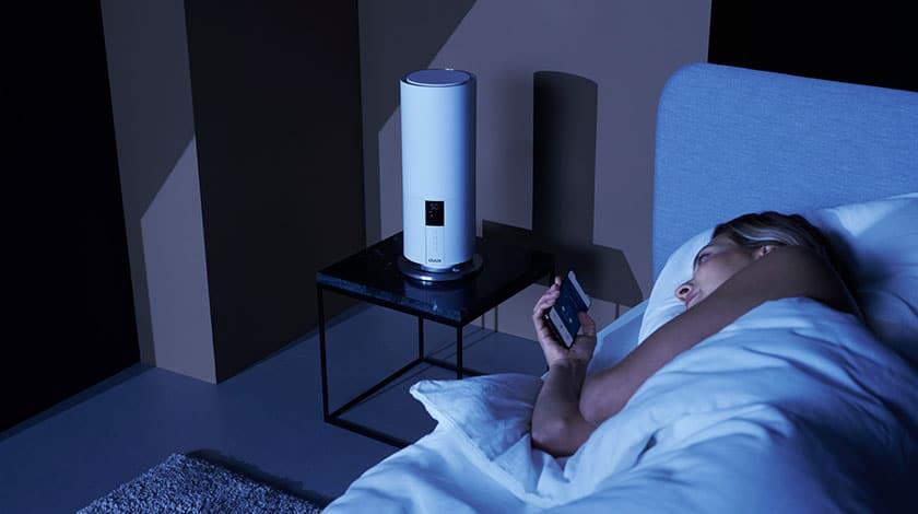 luchtbevochtiger met nachtmodus