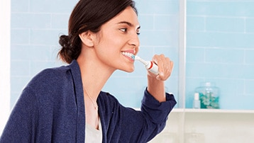 elektrische tandenborstel met poetsdruksensor