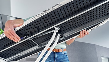 strijkplank met safety-lock en framevergrendeling