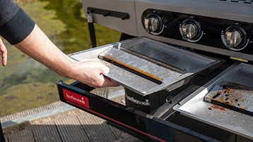 gasbarbecue met vetafvoer