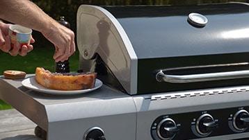 gasbarbecue met werkblad